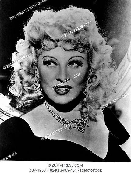 Nov. 2, 1950 - Los Angeles, CA, U.S. - MAE WEST, Hollywood sexpot of film and Broadway during the 1930s, was born on 8/17/1893 in Brooklyn