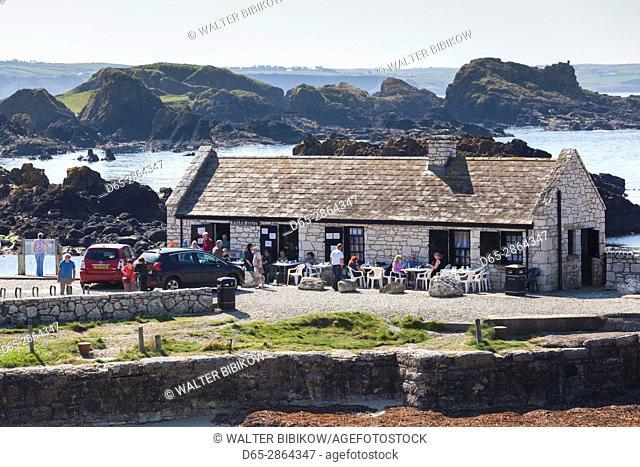 UK, Northern Ireland, County Antrim, Ballintoy, Ballintoy Harbor