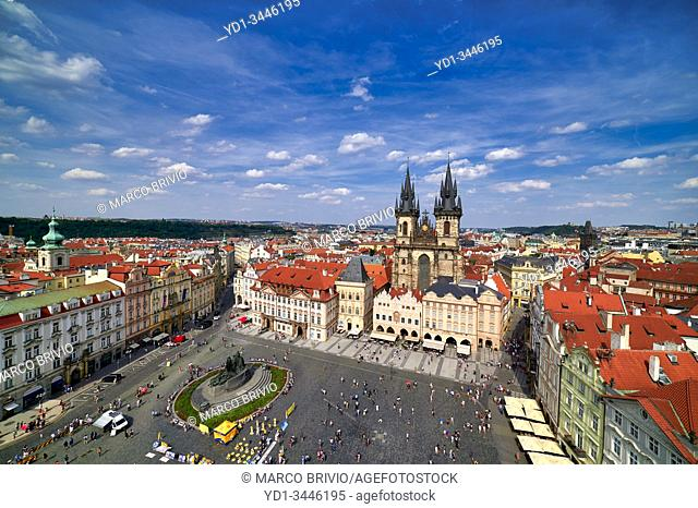 Prague Czech Republic. View on the old town