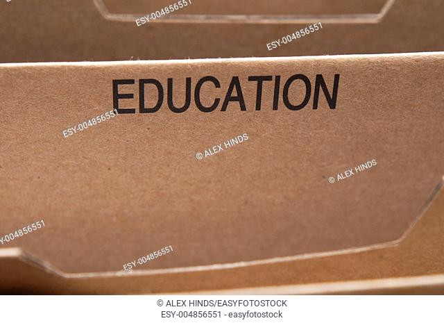 Education section tab in folding file