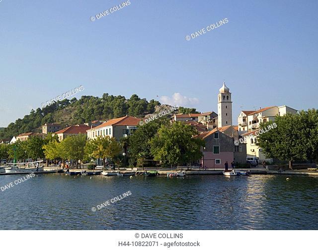 Skradin, River Krka, river, Krka, Dalmatia, Europe, Dalmatian, Croatia, Europe, Eastern, European, Balkans, travel, ho
