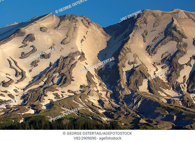 Mt St Helens from Stratigraphy Point, Mt St Helens National Volcanic Monument, Washington