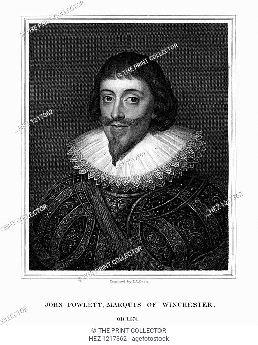 John Paulet, 5th Marquess of Winchester, royalist, (1826). Paulet (1598-1675) supported King Charles I during the English Civil War