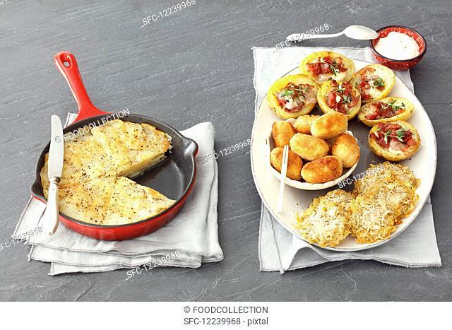 Various potato dishes
