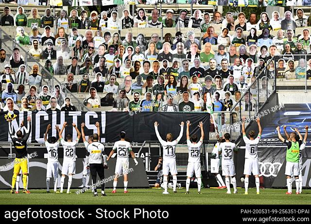 31 May 2020, North Rhine-Westphalia, Mönchengladbach: Football: Bundesliga, Borussia Mönchengladbach - 1st FC Union Berlin