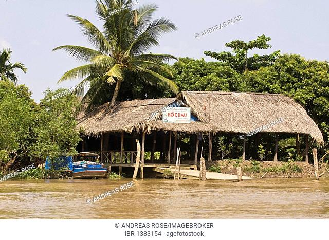 Typical building of local people in the Mekong Delta, Vietnam, Asia