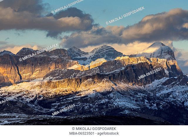 Europe, Italy, Alps, Dolomites, Mountains, Passo Pordoi