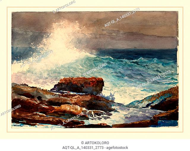 Winslow Homer (American, 1836-1910), Incoming Tide, Scarboro, Maine, 1883, watercolor