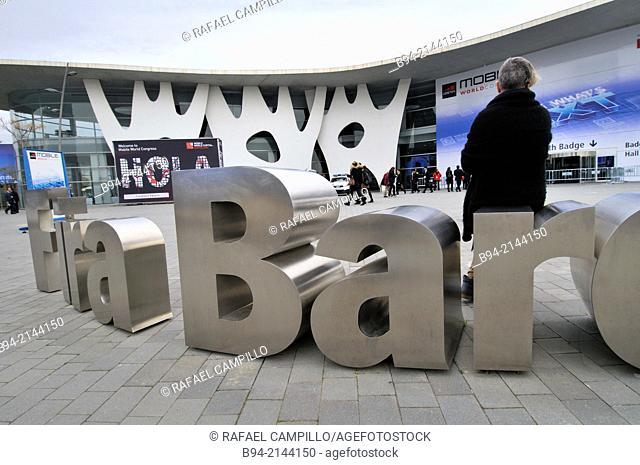 Mobile World Congress. Fira de Barcelona. Gran Via venue, Av. Joan Carles I, 64. Hospitalet de Llobregat. Architect: Toyo Ito. . Barcelona. Catalonia