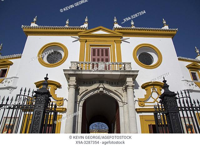 Maestranza Bullring Facade, Seville; Spain;