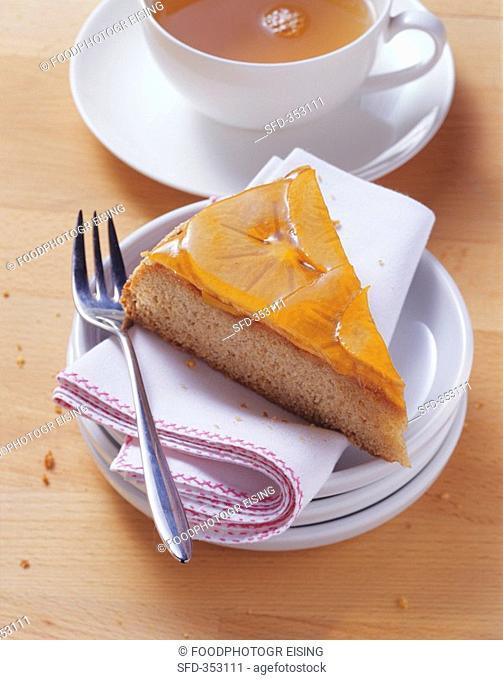Buckwheat cake with persimmon