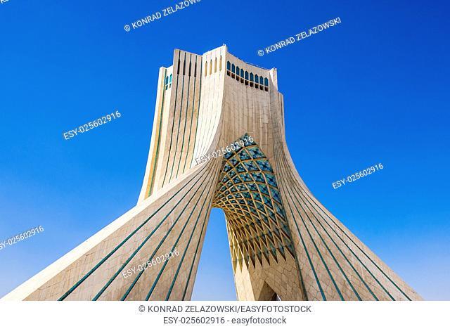 Azadi Tower in Tehran city, Iran