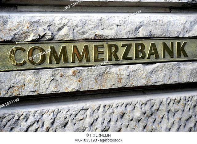 GEMANY, FRANKFURT MAIN, 19.10.2008, exterior view of Commerzbank with writing. - FRANKFURT MAIN, Hessen, GEMANY, 19/10/2008