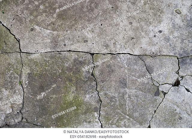 texture of gray cracked cement, element for the designer, full frame