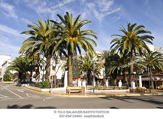 Plaza de España. Santa Eulària des Riu. Ibiza. Balearic islands. Spain