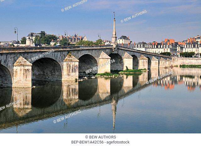 Old bridge of Blois in the Loire Valley France