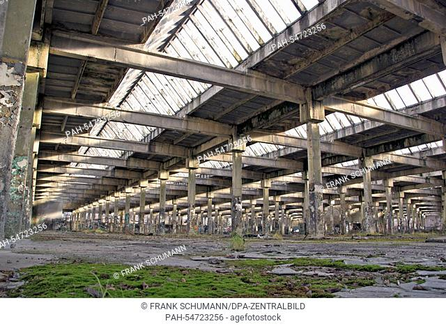 A view of production hall of the German Krupp company which was erected by concentration camp prisoners in Oswiecim, Poland, 12 December 2014
