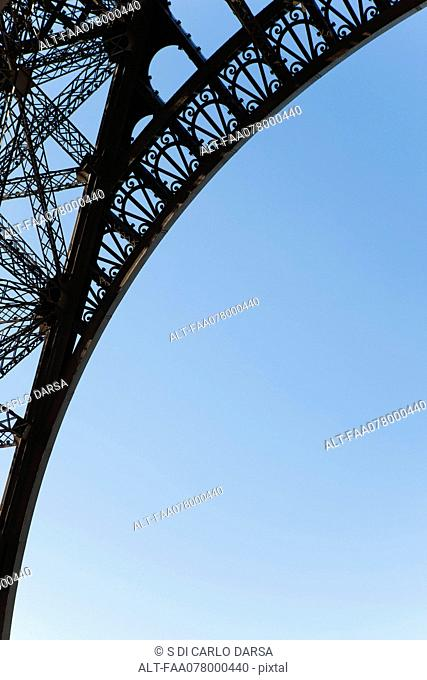 Arch of Eiffel Tower, Paris, France