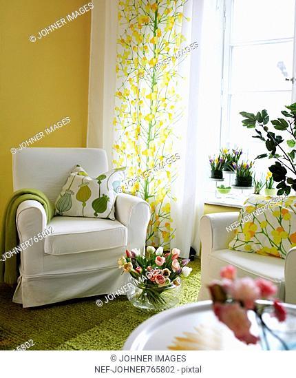 Detail of a living room, Sweden