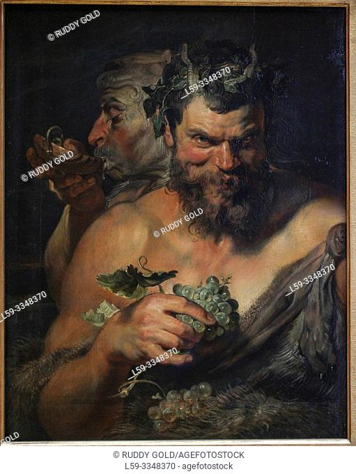 """Two Satyrs"", 1617/19, Peter Paul Rubens (1577-1640)"