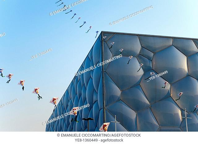 Watercube National Swimming Centre by PTW architects and ARUP, 2008, Olympic Green, Beijing, China, Asia