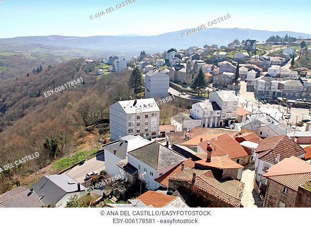 Castro Caldelas village Orense Galicia Spain