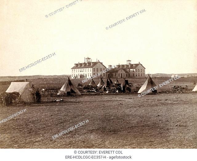U.S. School for Indians at Pine Ridge, South Dakota. Photo by John C. Grabill 1891