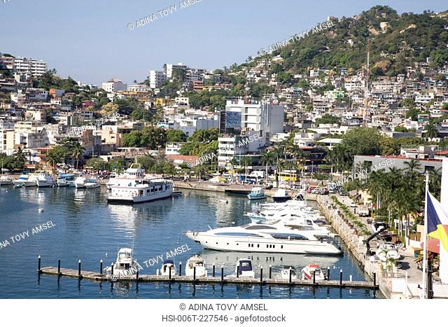 View of Acapulco harbour. Mexico