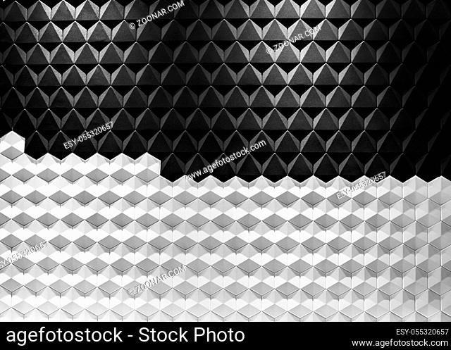 Modern architecture black and white steel, architectural design, architecture background concept