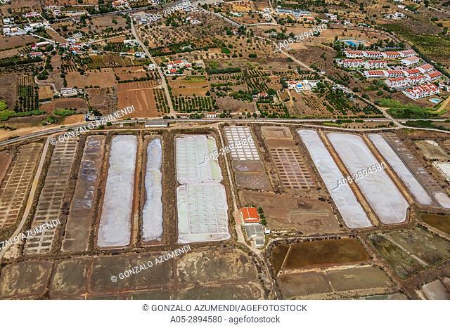 Olhao saltpans. Ria Formosa, natural park. Faro district. Algarve. Portugal