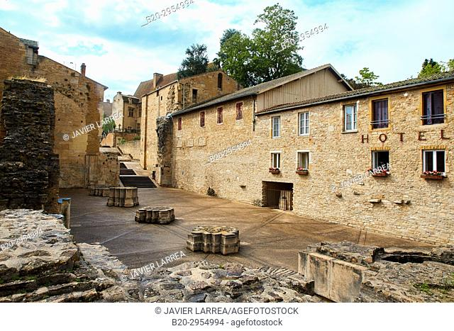 Ruins of ancient Abbey of Cluny, Cluny, Saone-et-Loire Department, Burgundy Region, Maconnais Area, France, Europe