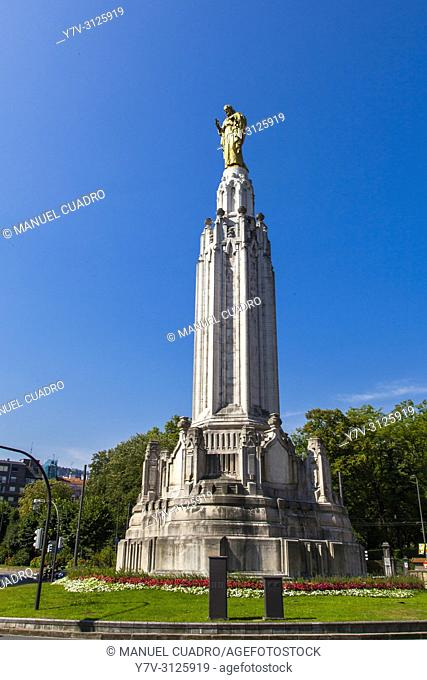 Statue of the Sacred Heart. Bilbao, Biscay, Basque Country, Spain