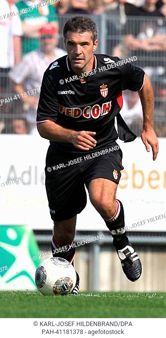 Monaco's player Jeremy Toulalan in action during the soccer test match between FC Augsburg and AS Monaco in Memmingen, Germany, 20 July 2013