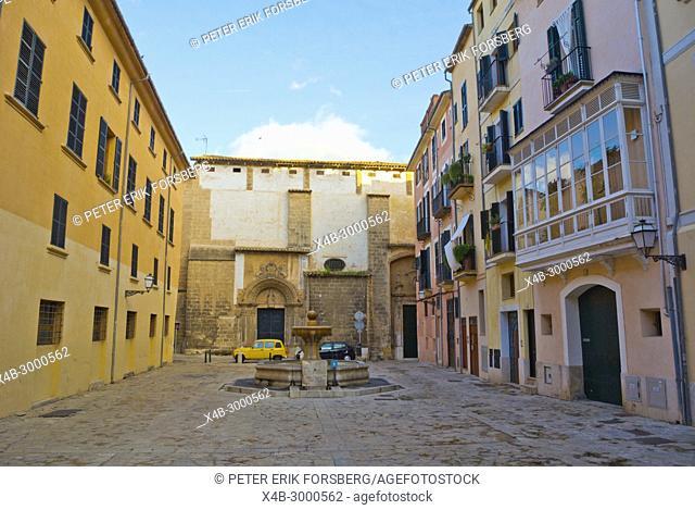 Placa de Sant Jeroni, old town, Palma, Mallorca, Balearic islands, Spain