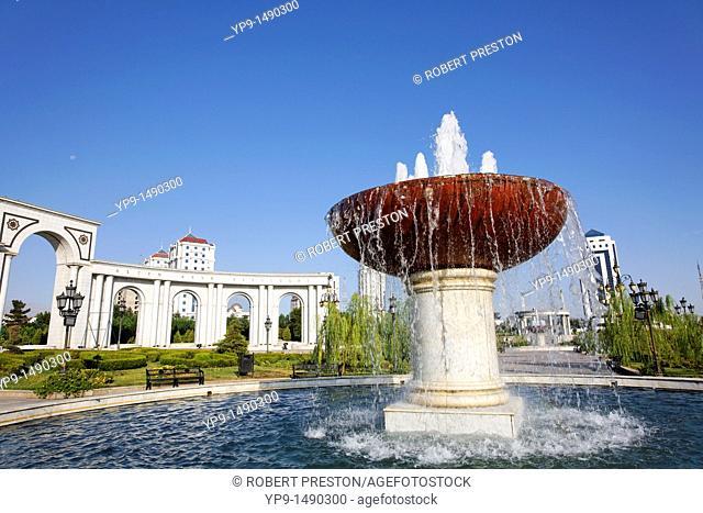 Turkmenistan - Ashgabat - Berzengi - monument to 11 years of Independence