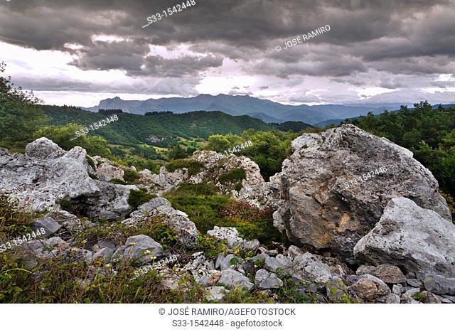 Cordillera Cantábrica from Brez  Santander  Cantabria  Spain