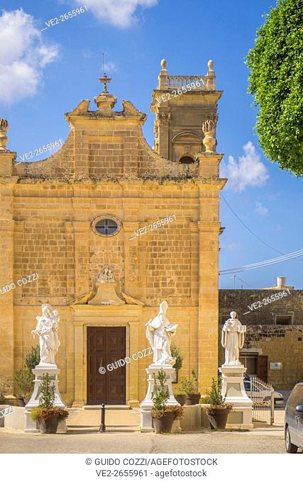 Malta, Gozo. Victoria, church near Don Bosco chapel