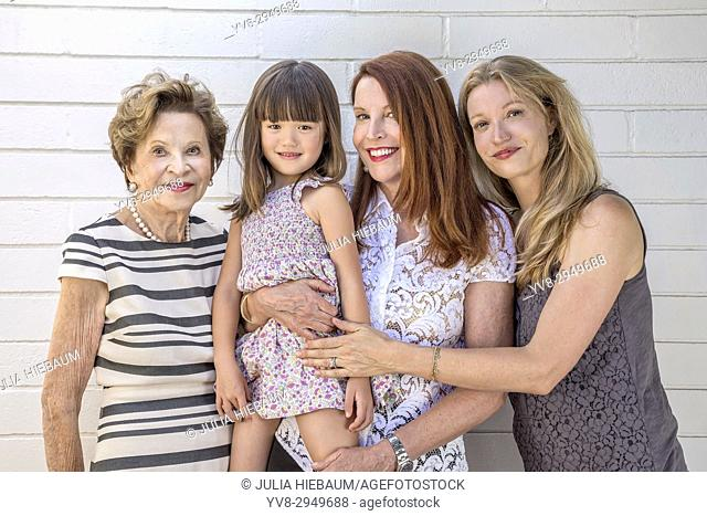 Four generations of female family