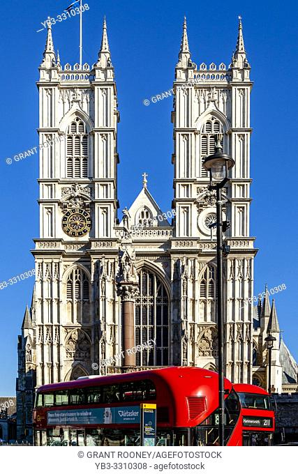 The Exterior of Westminster Abbey On A Sunny Autumn Day, London, UK