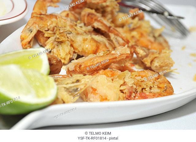 Shrimp dish, Lemon, Restaurant, São Paulo, Brazil