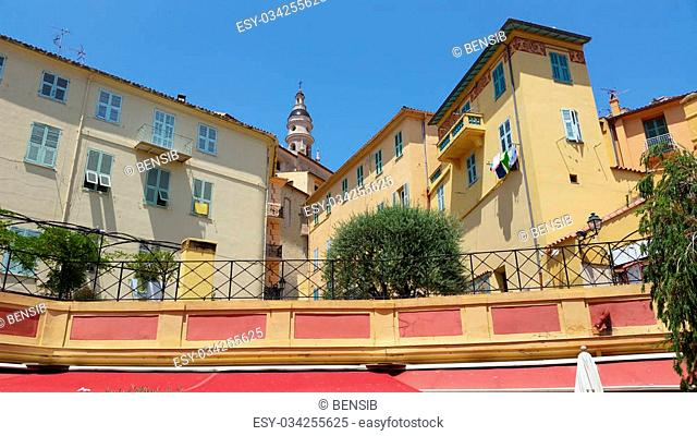 The Old town of Menton, Cote d'Azur (French Riviera), France