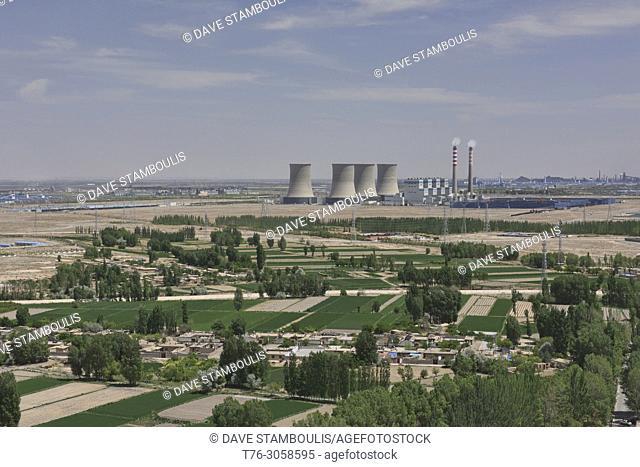 Belching industrial zone, Jiayuguan, Gansu, China