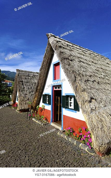 Traditional Madeira house at Santana, Madeira, Portugal