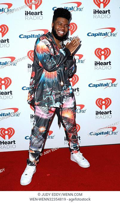 iHeartRadio Music Festival at T-Mobile Arena - Arrivals Featuring: Khalid Where: Las Vegas, Nevada, United States When: 23 Sep 2017 Credit: Judy Eddy/WENN