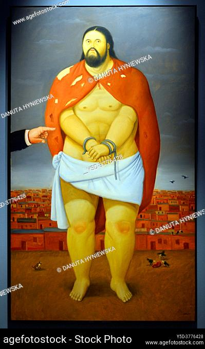 Fernando Botero, Via Crucis or The way of the Cross, Exhibition in Royal Palace of Palermo - Norman Palace, Palermo, Sicily, Italy, Europe, painting - Ecce Homo