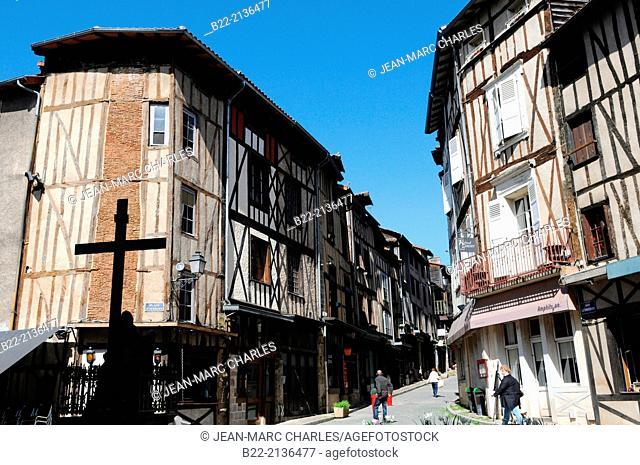 Place St-Aurélien, rue de la Boucherie, village de La Boucherie, butcher's village, Limoges, Haute-Vienne, Limousin, France