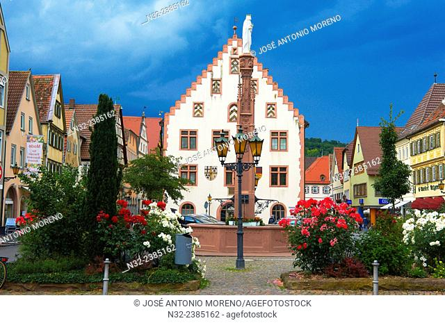 Bad Mergentheim, Town Hall, Romantic Road, Romantische Strasse, Baden-Wuerttemberg; Germany; Europe