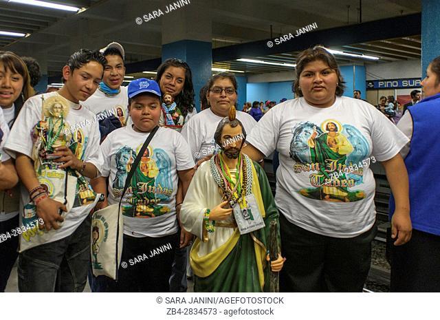 Peregrinación San Judas Tadeo 28 de octubre, Distrito Federal, Mexico, America