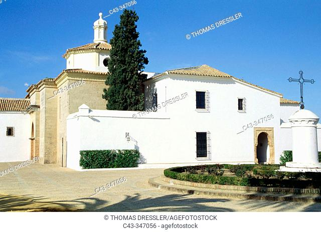 Franciscan monastery of La Rábida where Christopher Columbus has spent some time before leaving for America in 1492. Palos de la Frontera