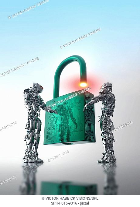 Data security, conceptual illustration